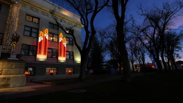 arizona prescott candles on courthouse.mov - prescott arizona stock videos & royalty-free footage
