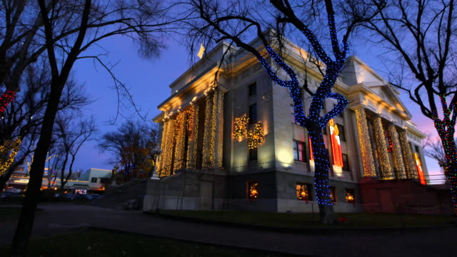 arizona prescott christmas courthouse view.mov - courthouse stock videos & royalty-free footage