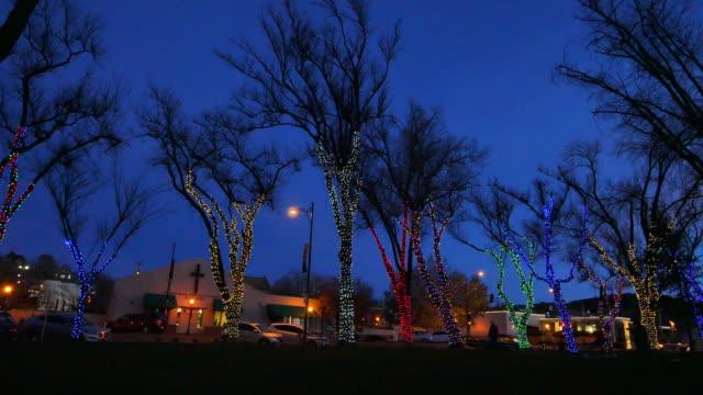 arizona prescott christmas lights and trees.mov - prescott arizona stock videos & royalty-free footage