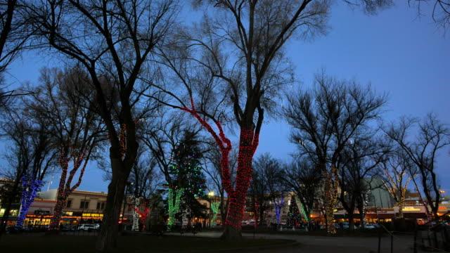 arizona prescott christmas lights at dusk.mov - prescott arizona stock videos & royalty-free footage