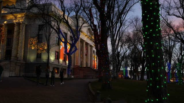 arizona prescott christmas lights on courthouse.mov - prescott arizona stock videos & royalty-free footage