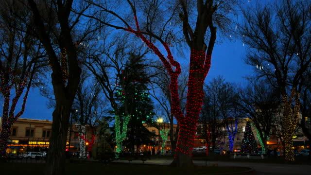 arizona prescott christmas lights on trees.mov - prescott arizona stock videos & royalty-free footage