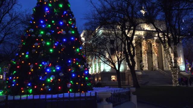 arizona prescott courthouse and christmas tree.mov - prescott arizona stock videos & royalty-free footage