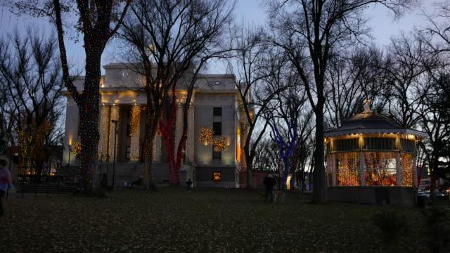 arizona prescott courthouse grounds at christmas.mov - gazebo stock videos & royalty-free footage