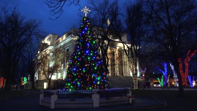 arizona prescott with large christmas tree.mov - prescott arizona stock videos & royalty-free footage