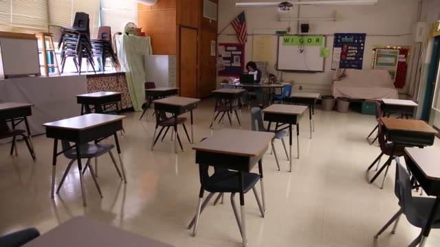 arizona schools prepare ahead of opening day amid pandemic in tucson, az, u.s. on friday, august 14, 2020. as virtual learning has started in school... - arizona stock videos & royalty-free footage