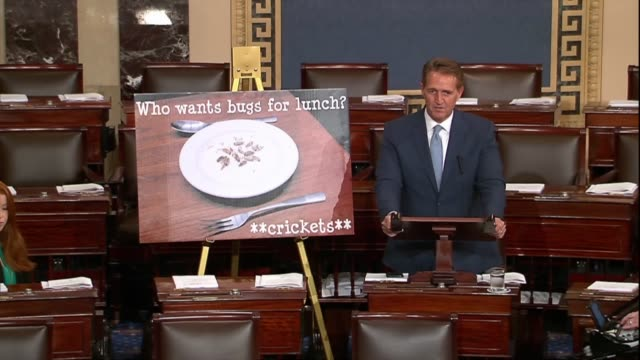 Arizona Senator Jeff Flake asks how the government can pay milliondollar grants to companies to try to get people to eat bugs which does not pass the...