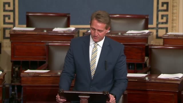 Arizona Senator Jeff Flake asks in a floor speech what the goal is of laying siege to the truth quoting an eloquent question of President John...
