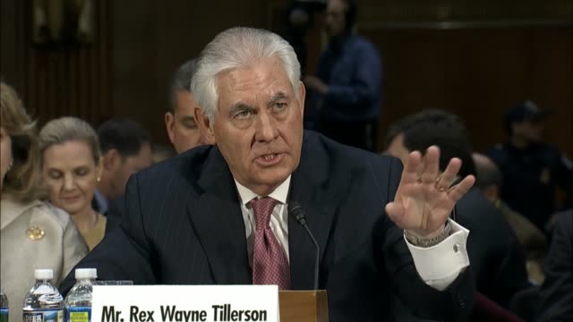 Arizona Senator Jeff Flake asks Rex Tillerson at his nomination hearing before the Senate Foreign Relations Committee about taking up an...