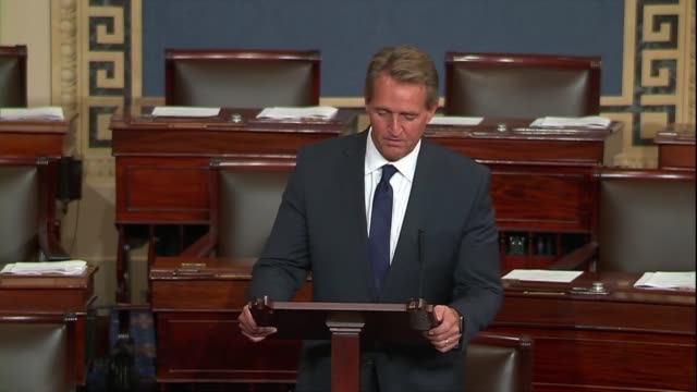 Arizona Senator Jeff Flake calls foreign policy events of the past week baffling inexplicable attacks on closest allies by the Trump administration...