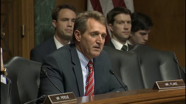 Arizona Senator Jeff flake engages a discussion with FBI Director James Comey about communications in comment sections online gaming platforms and...
