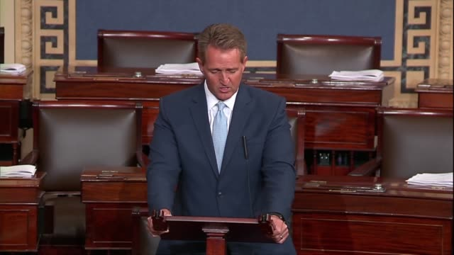 Arizona Senator Jeff Flake says a day before a hearing with Supreme Court nominee Judge Brett Kavanaugh and sex abuse accuser Christine Blasey Ford...
