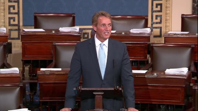 Arizona Senator Jeff Flake says after a bill to protect a special counsel Robert Mueller from being fired was objected to that the majority leader...