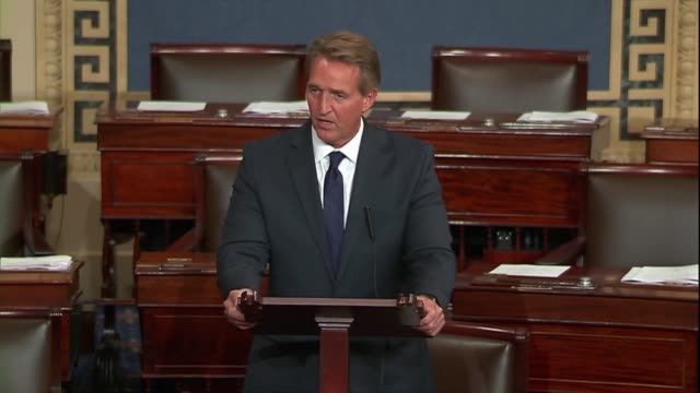 Arizona Senator Jeff Flake says consistently ridiculing allies by suggesting they somehow abused the United States while voicing admiration for...