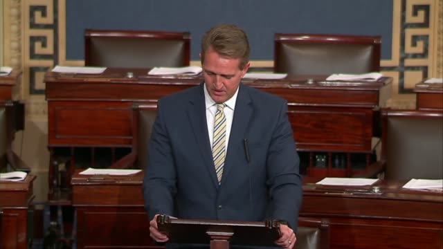 arizona senator jeff flake says in a floor speech that between the mighty and the modest truth is the great leveler that a report on free press... - artificial stock videos & royalty-free footage