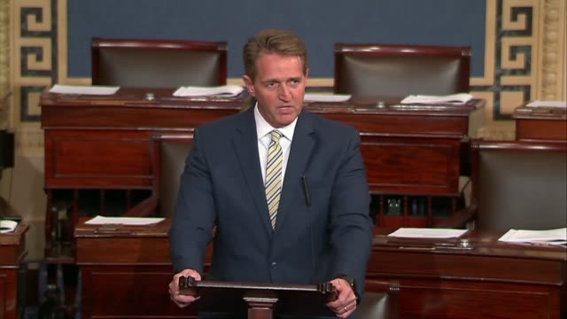 arizona senator jeff flake says in a floor speech that when you figure in power reflexively calls press that does not suit him fake news they should... - artificial stock videos & royalty-free footage