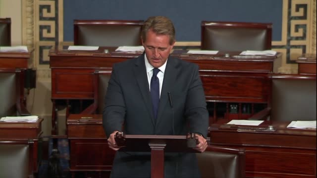Arizona Senator Jeff Flake says in reading The Atlantic a quote of a senior White House official saying the ultimate goal is to destroy the...
