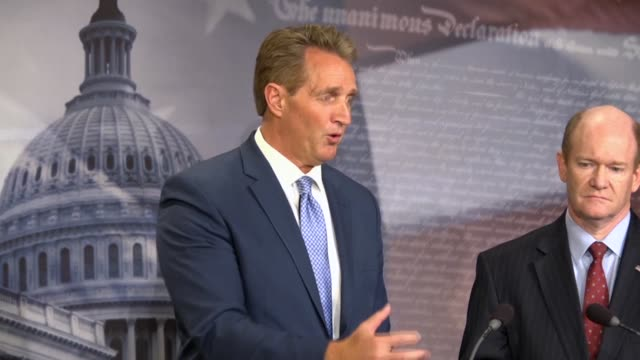 Arizona Senator Jeff Flake says minutes after a resolution commending investigation of Russia was rejected that a bipartisan and symbolic resolution...