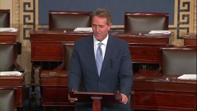 Arizona Senator Jeff Flake says of a bipartisan resolution regarding 2016 election season investigations of Russia that President Trump's rejection...