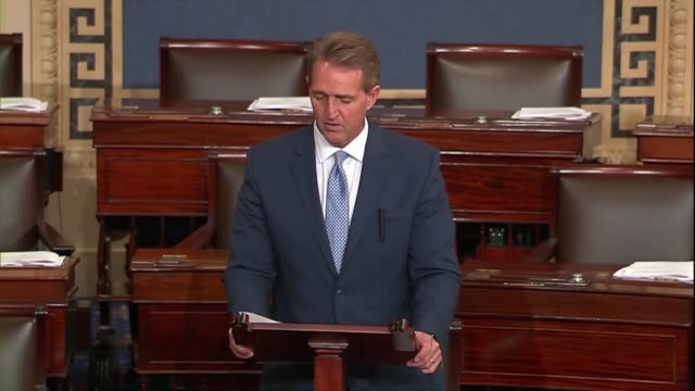 Arizona Senator Jeff Flake says of a bipartisan resolution regarding 2016 election season investigations of Russia that President Trump was invited...