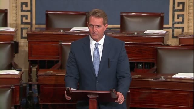 Arizona Senator Jeff Flake says of a bipartisan resolution regarding 2016 election season investigations of Russia that the Helsinki summit was a...
