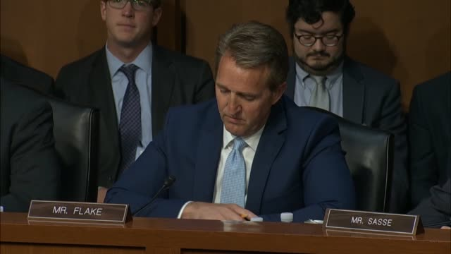 arizona senator jeff flake says on the first day of the confirmation hearing for judge neil gorsuch to the supreme court that one of the most... - court hearing stock videos & royalty-free footage