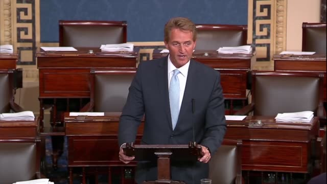 arizona senator jeff flake says that one would think they would be national resolve to get to the bottom of aggression from a foreign power like... - former stock videos & royalty-free footage