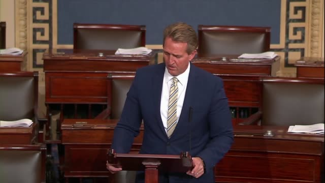 Arizona Senator Jeff Flake suggests that to say as President Donald Trump had at a joint press conference with the French president hours earlier...