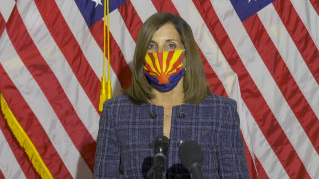 arizona senator martha mcsally says at an unplanned press conference about a proposed constitutional amendment to keep the supreme court at nine... - arizona stock videos & royalty-free footage