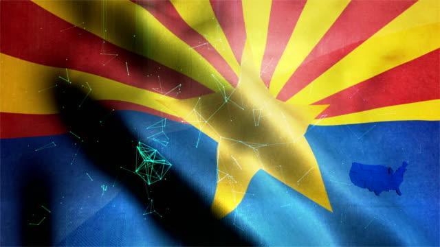 アリゾナ州旗 - 米国大統領選挙点の映像素材/bロール