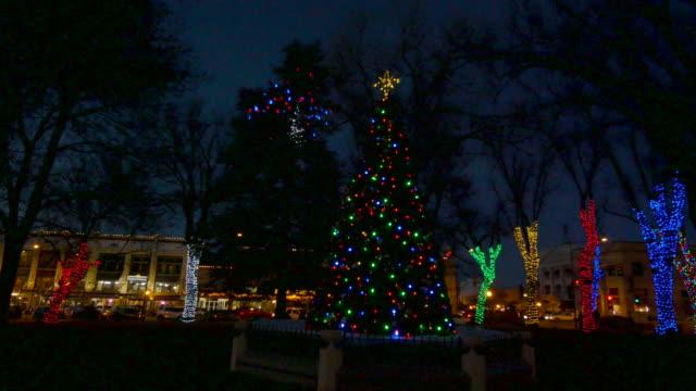 arizona trees with christmas lights time lapse.mov - prescott arizona stock videos & royalty-free footage