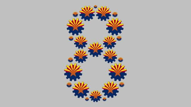 vidéos et rushes de numéro huit de l'arizona - chiffre 8