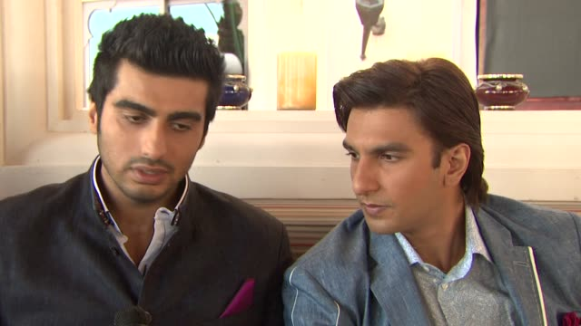 INTERVIEW Arjun Kapoor and Ranveer Singh on working with actress Priyanka Chopra 'Gunday' Press Junket 10th Annual Dubai International Film Festival...
