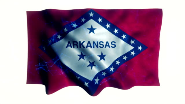 arkansas flag - country geographic area stock videos & royalty-free footage