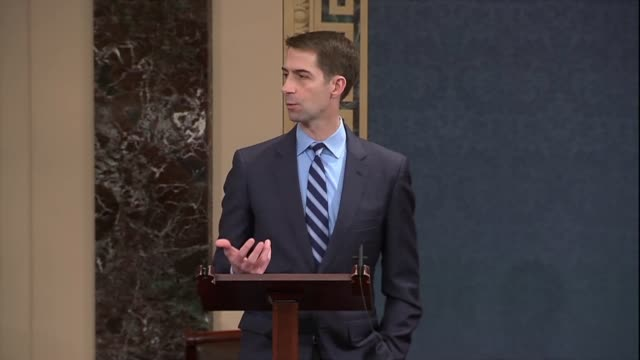 Arkansas Senator Tom Cotton quotes Abraham Lincoln in debate on immigration reform that calling a dog tail a leg it still has four legs the same way...