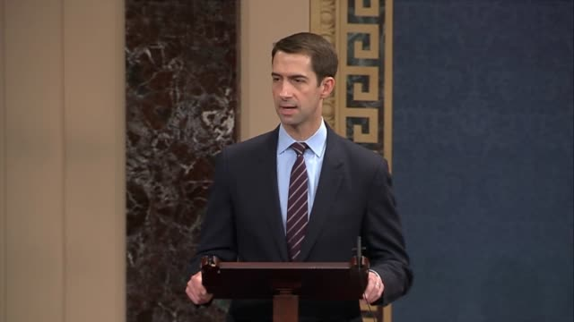 arkansas senator tom cotton says as house republicans released a tax reform bill that it is an important day to deliver relief to working families... - dime stock videos and b-roll footage
