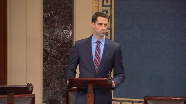 arkansas senator tom cotton takes the floor to announce that he will oppose a government funding bill. although he recognizes positive policies in... - five dollar bill stock videos & royalty-free footage