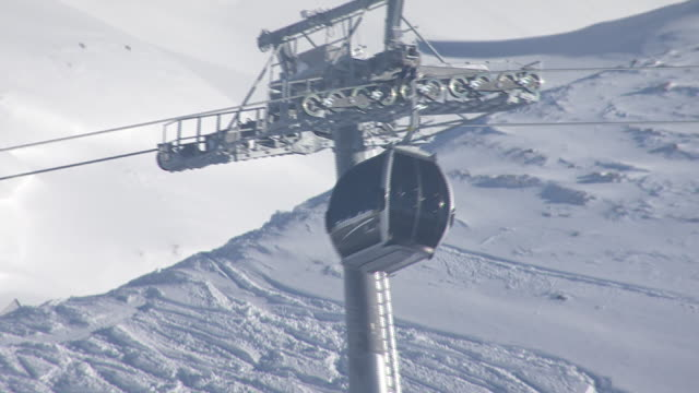 Arlberg - Cable car journey close up in Lech
