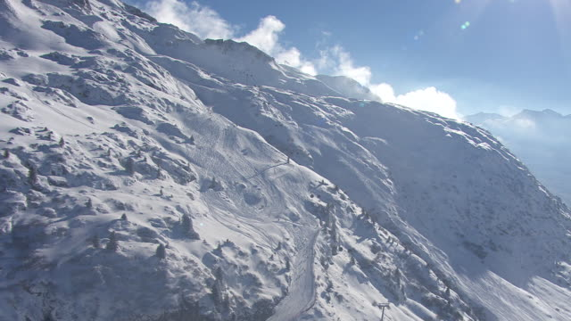 Arlberg - Ski Slope and Cable cars in Lech