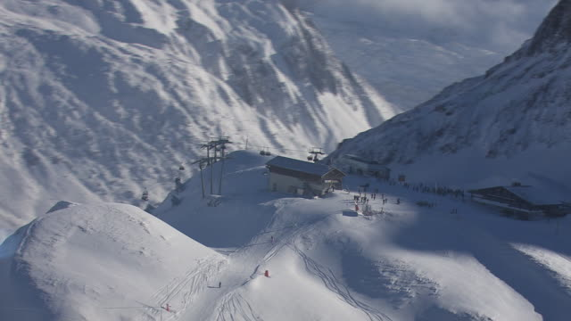 Arlberg - skiing area in Lech from above 04