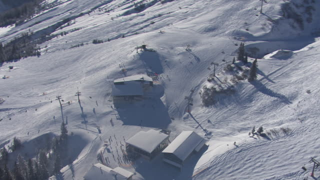 Arlberg - Skiing area in Lech from above 05