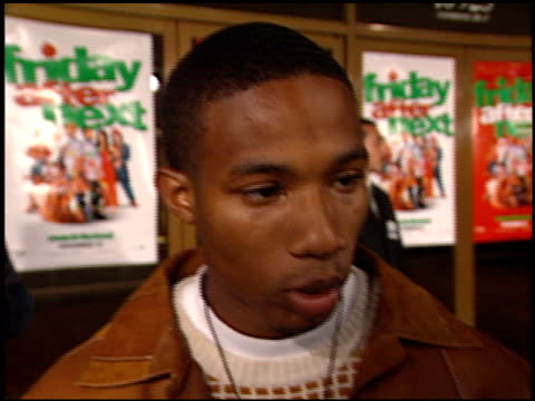 arlen escarpeta at the 'friday after next' premiere at the mann national theatre in westwood california on november 13 2002 - friday stock videos & royalty-free footage