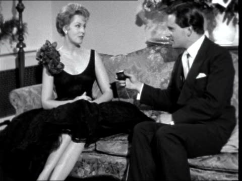 london int arlene dahl interview sof on being the most beautiful woman in the world / shows lingerie designs - lingerie stock videos & royalty-free footage