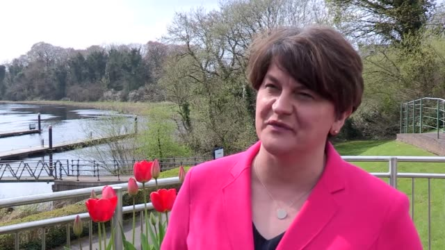 "arlene foster saying it is ""humiliating that we're begging the eu so that we can leave"" - dup stock-videos und b-roll-filmmaterial"