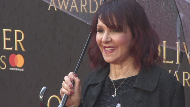 Arlene Phillips at The Olivier Awards with Mastercard at Royal Albert Hall on April 08 2018 in London England