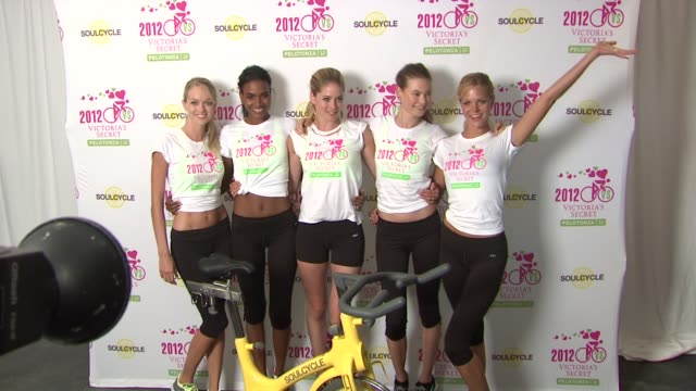 arlenis sosa lindsay ellingson doutzen kroes behati prinsloo and erin heatherton at victoria secret at victoria secret 2nd annual supermodel cycle... - supermodel stock videos and b-roll footage