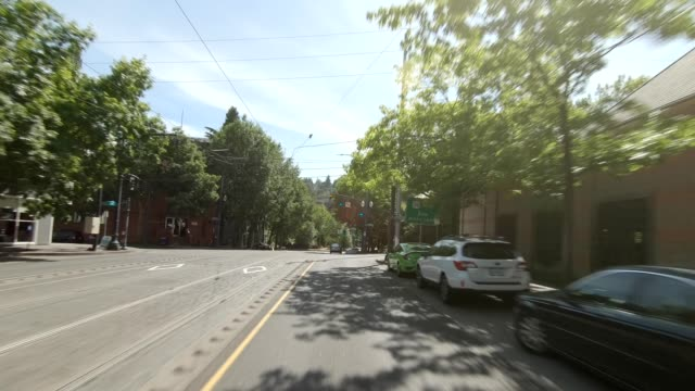 arlington heights xxiv synced series front view driving process plate - portland oregon summer stock videos & royalty-free footage