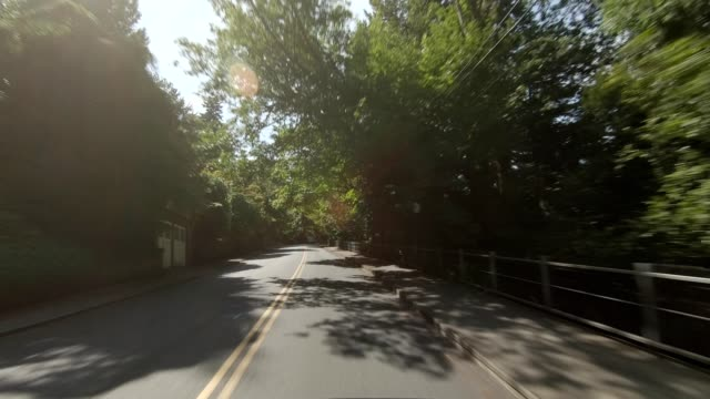 arlington heights xxvii synced series front view driving process plate - oregon us state stock videos & royalty-free footage