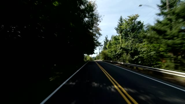 arlington heights xxxi synced series rear view driving process plate - portland oregon summer stock videos & royalty-free footage