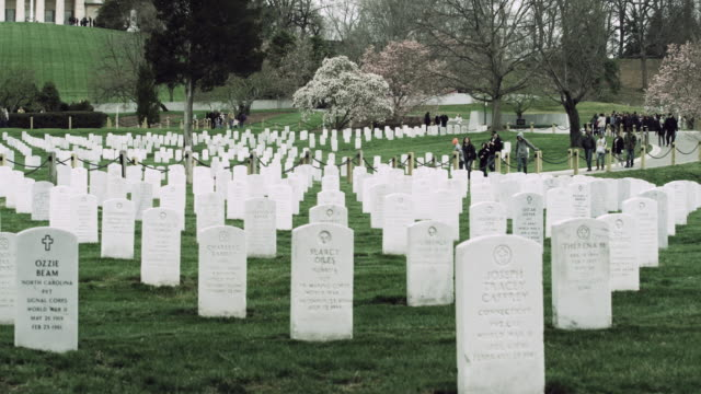 Arlington National Cemetery headstones.